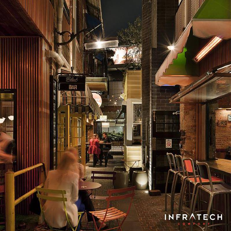 Bridge Hotel Infratech Heaters Melbourne cafe Infratech Heaters