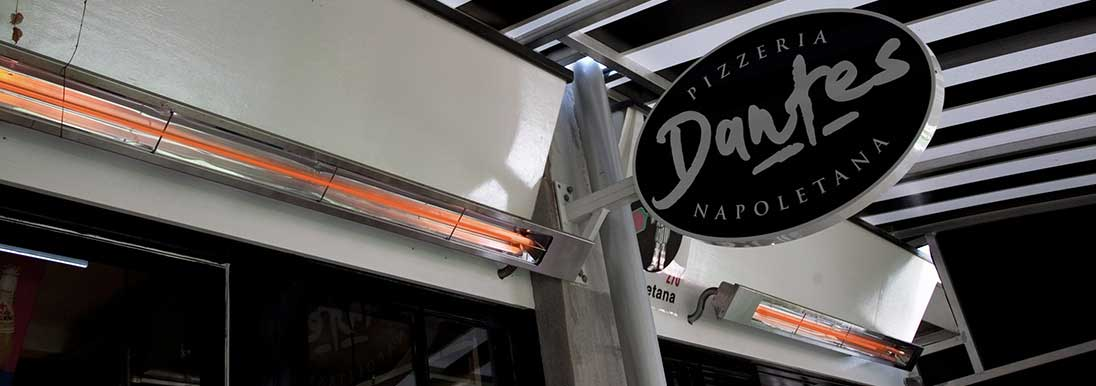 Dantes Infratech Heaters Melbourne cafe Infratech Heaters