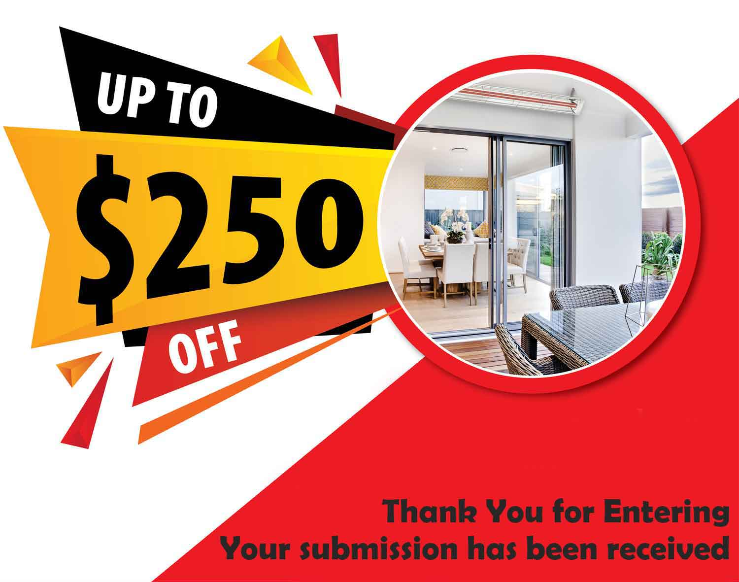 Cashback Offer - Up To $250 Off Selected Infratech Heaters